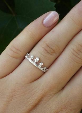 Кольцо коронка с камнями