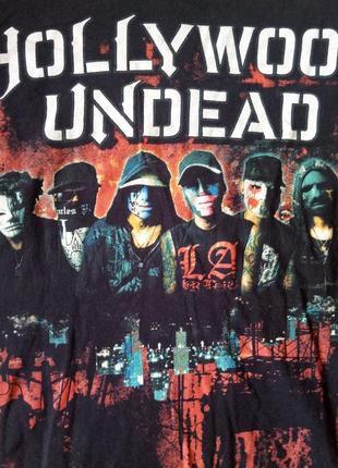 Черная оригинальная футболка hollywood undead