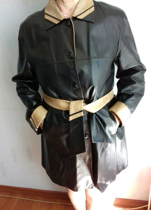 Кожаное полупальто. Куртка. Женская