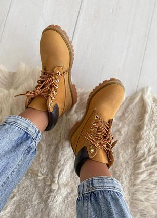 Ботинки timberland 6 inch premium yellow черевики