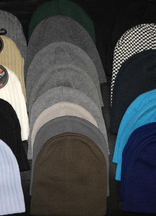 Опт/розница шапка бини тыква мини ровная вязка цвета короткая