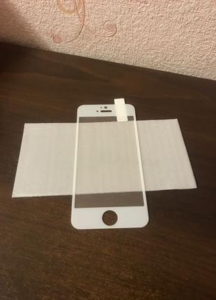 Защитное стекло iPhone 5,5C,5S,SE white