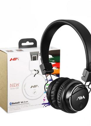 Наушники беспроводные NIA Q8 с Bluetooth, MP3 плеером Original