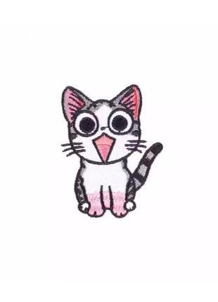 Нашивка, патч, стикер кота для одежды