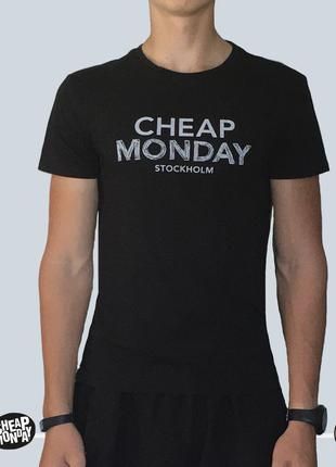 Футболка cheap monday standard tee doodle logo black