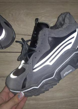 Теплые кроссовки 🍁 полуботинки осенние деми платформа
