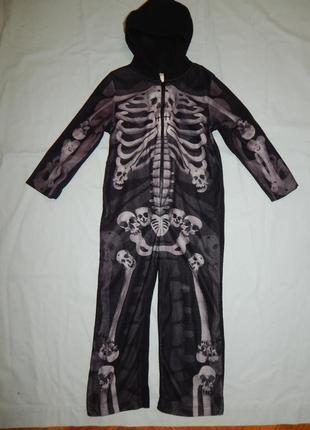 Пижама флисовая человечек слип на 5-6 лет
