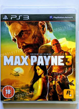 Max Payne 3 PS3 playstation 3 диск | РУС
