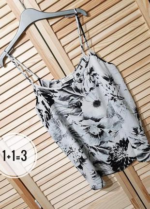 Papaya стильная блузка m маечка узор принт цветы блуза майка топ