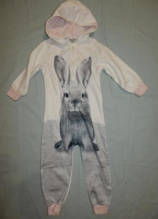 Пижама сли человечек теплый на 3 года 98 см