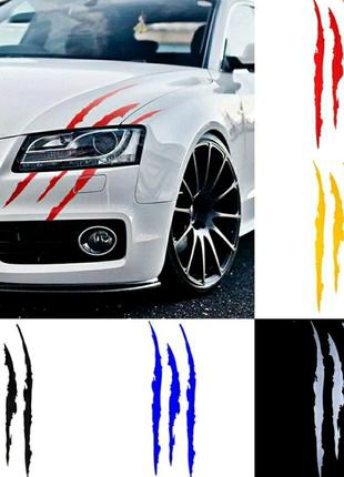 Наклейка коготь монстра на машину / авто