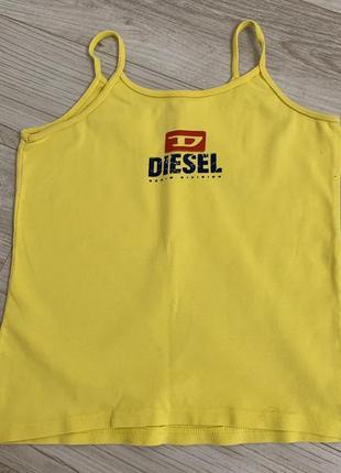 Яркая желтая котоновая майка diesel размер с