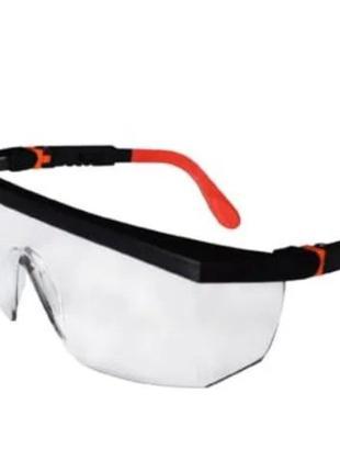 Очки защитные TRIARMA . Прозрачные линзы .