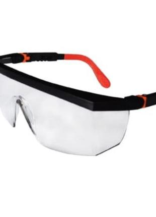 Очки защитные TRIARMA . Прозрачные линзы . Регулируемые дужки .