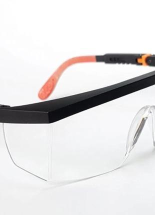 Очки защитные TRIARMA Прозрачные линзы . С регулируемой дужкой .