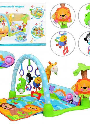Детский развивающий коврик для малышей 7181 Умный малыш от 0 до 1