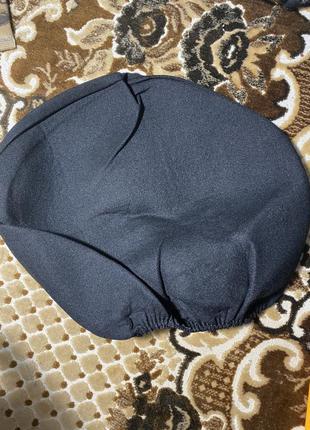 Чёрный мягкий чехол подголовник на резинке