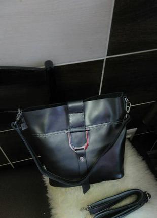 Женский кожаный клатч графит кожаные сумки