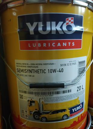 Моторное масло YUKO SEMISYNTHETIC 10W-40, 20л