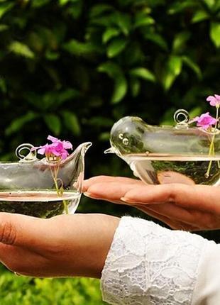 Стеклянные вазочки-птички для декора # пасхавдома
