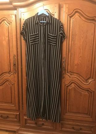 Платье -рубашка в полоску