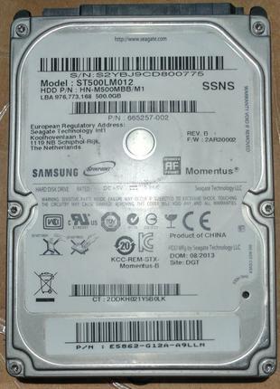 Ноутбучный жесткий диск SATA 2.5 Samsung ST500LM012 на 500Гб