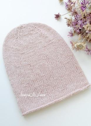 Пудровая шапка