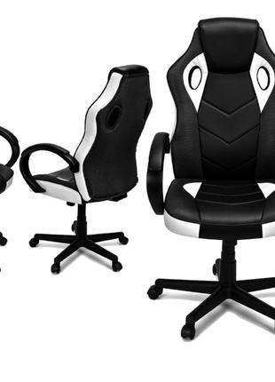 Кресло компьютерное игровое спортивное pagani белое распродажа