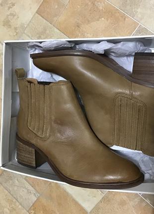 Черевики сапожки ботинки miss KG верблюжа шкіра дешево 38 , 39 p