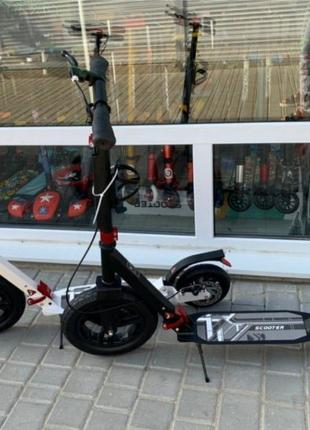 Самокат Scooter Hammer Lux крутая новинка надувные колеса