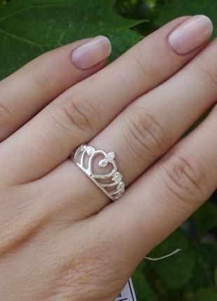 Кольцо диадема с камнями
