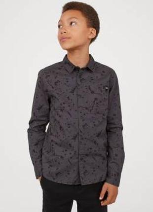 Сорочка з принтом для хлопців 7-14 років від h&m швеція