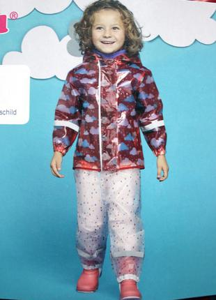 Набор дождевик куртка + штаны грязепруфы  lupilu 98-104