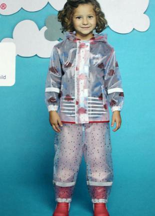 Набор дождевик куртка штаны грязепруфы lupilu 86-92
