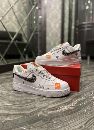 Кросовки Nike Air Force Just Do It Pack White/Black