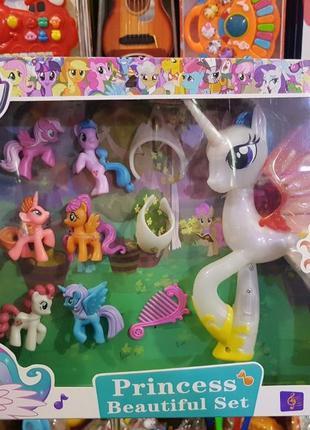 Набор Моя маленькая пони My little pony музыкальная 6 минифигурок