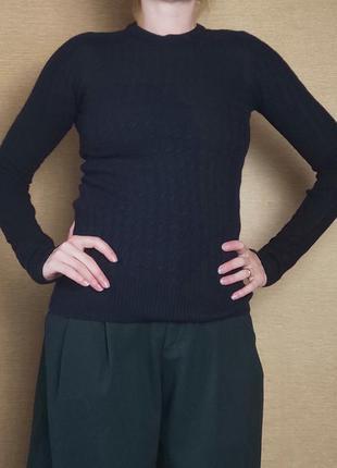 Шерстяной свитер кофта пуловер джемпер косами