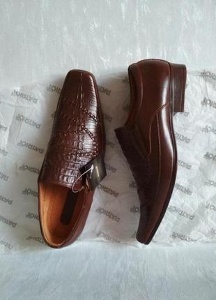 Новые мужские кожаные коричневые туфли Patriot Line