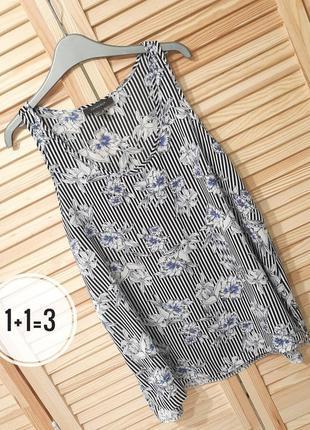 Primark стильная блузка m 48рр майка маечка блуза узор принт ц...