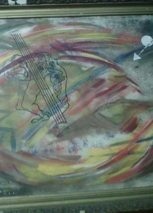 Картина абстракция холст, масло размер 80см на 60см с рамой