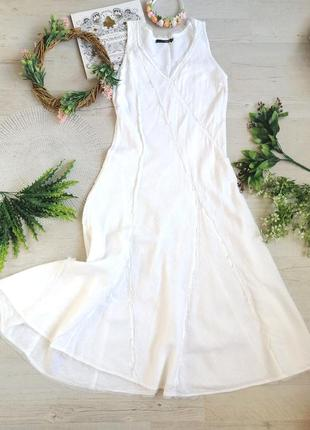 Платье свадебное необычное лен melvin белое