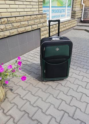 Чемодан дорожный на колесах сумка ткань Польша