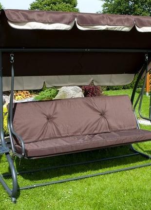 Садовая качеля, гойдалка диван, 4-х местная раскладная Poland