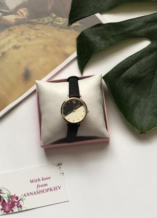 Женские часы с черным ремешком, часы женские круглые, наручные...