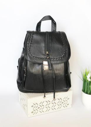 Черный женский рюкзак, городской рюкзак