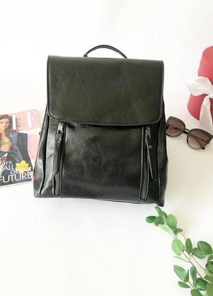 Чёрный женский рюкзак, городской рюкзак, чёрный рюкзак, рюкзак...