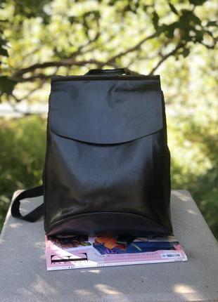 Рюкзак женский, чёрный городской рюкзак, рюкзак сумка