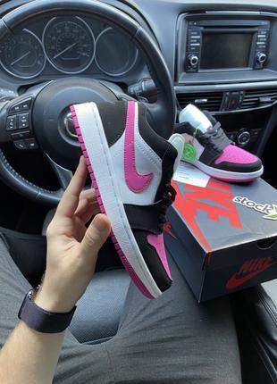 🔥 Nike Air Jordan 1 Low Black Pink White