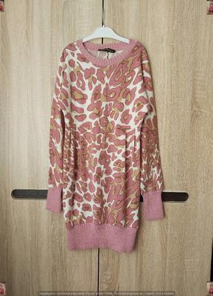 Симпатичное новое трикотажное платье-туника/удлинённый свитер ...