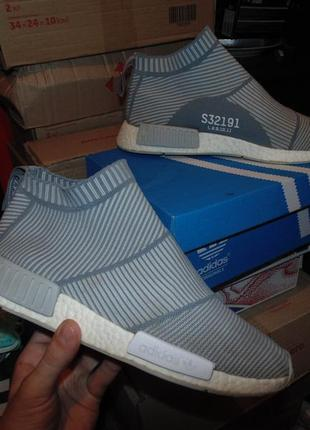 Кроссовки adidas nmd city sock grey white оригинал